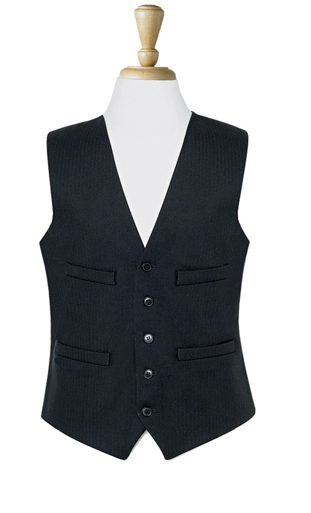 The waistcoats worn with white-and black-tie are different from standard daytime single-breasted waistcoats, being much lower in cut (with three buttons or four buttons, where all are fastened). The much larger expanse of shirt compared to a daytime waistcoat allows more variety of form, with