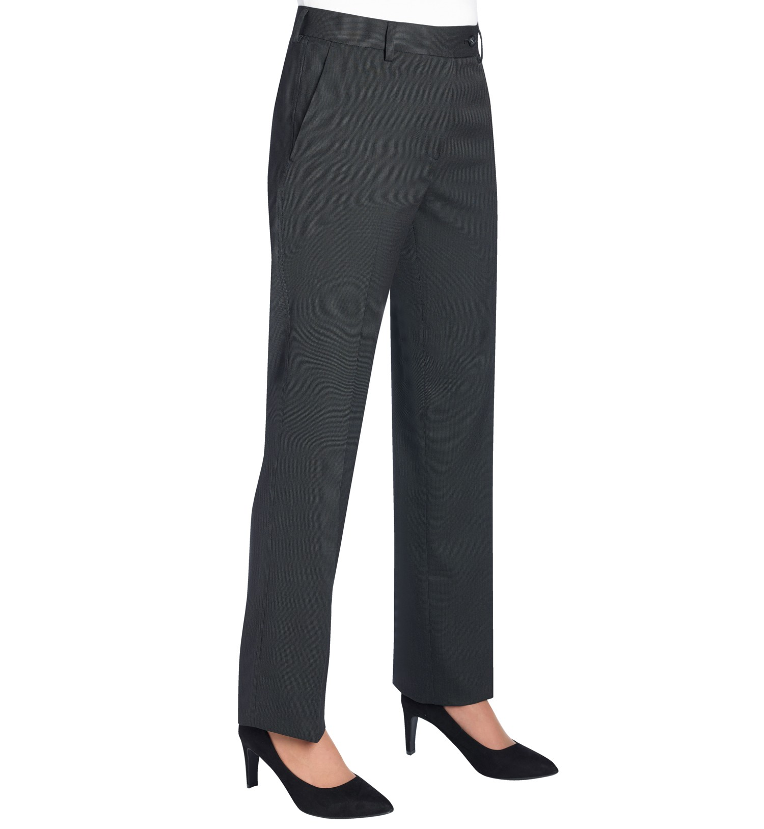 The trousers have a wide webbed elastic band sewn into the waist, which is intended to make a belt or suspenders unnecessary, hence the name (sans a belt). The Sansabelt slack was invented by Silver Manufacturer, located in East Chicago, Indiana, which subsequently sold the company and their patent to Jaymar-Ruby, an Indiana-based clothing.