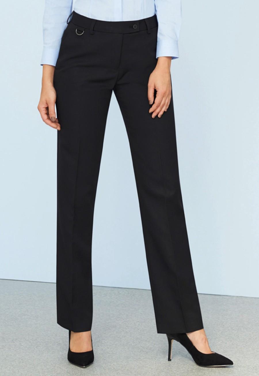 Brook Taverner Women/'s Slim Leg Trousers Ladies Smart Office Business Workwear