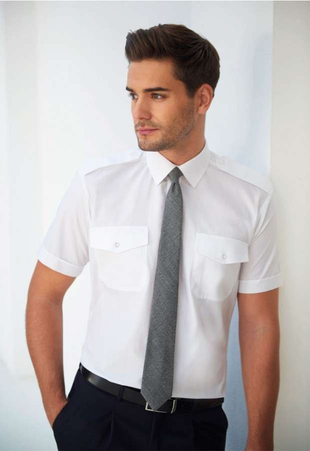 Orion Slim Fit S/S Pilot Shirt