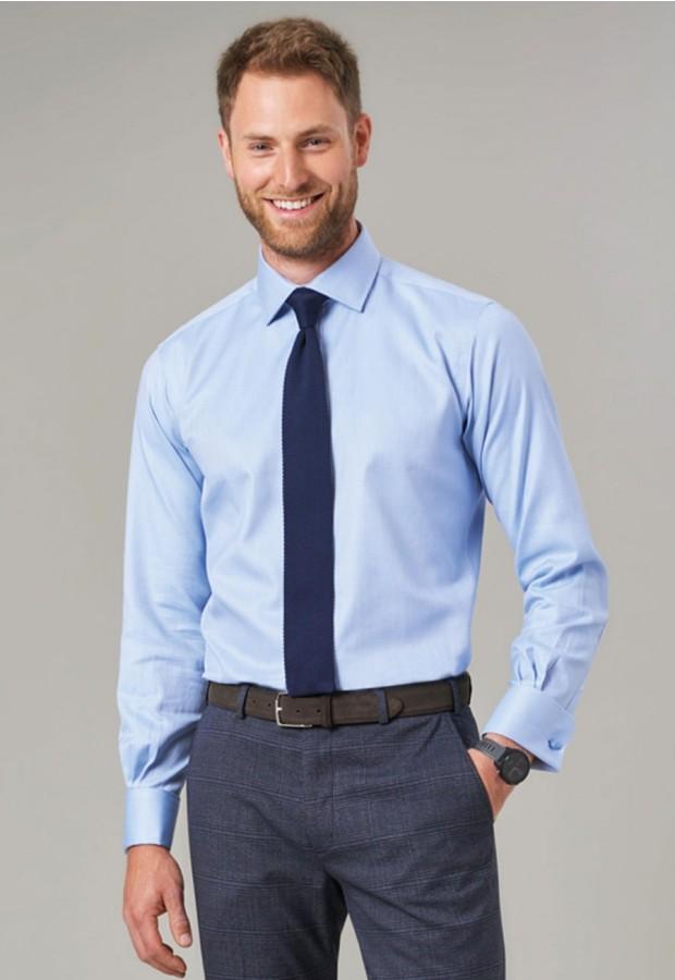 Prato Slim Fit Shirt Cotton Herringbone
