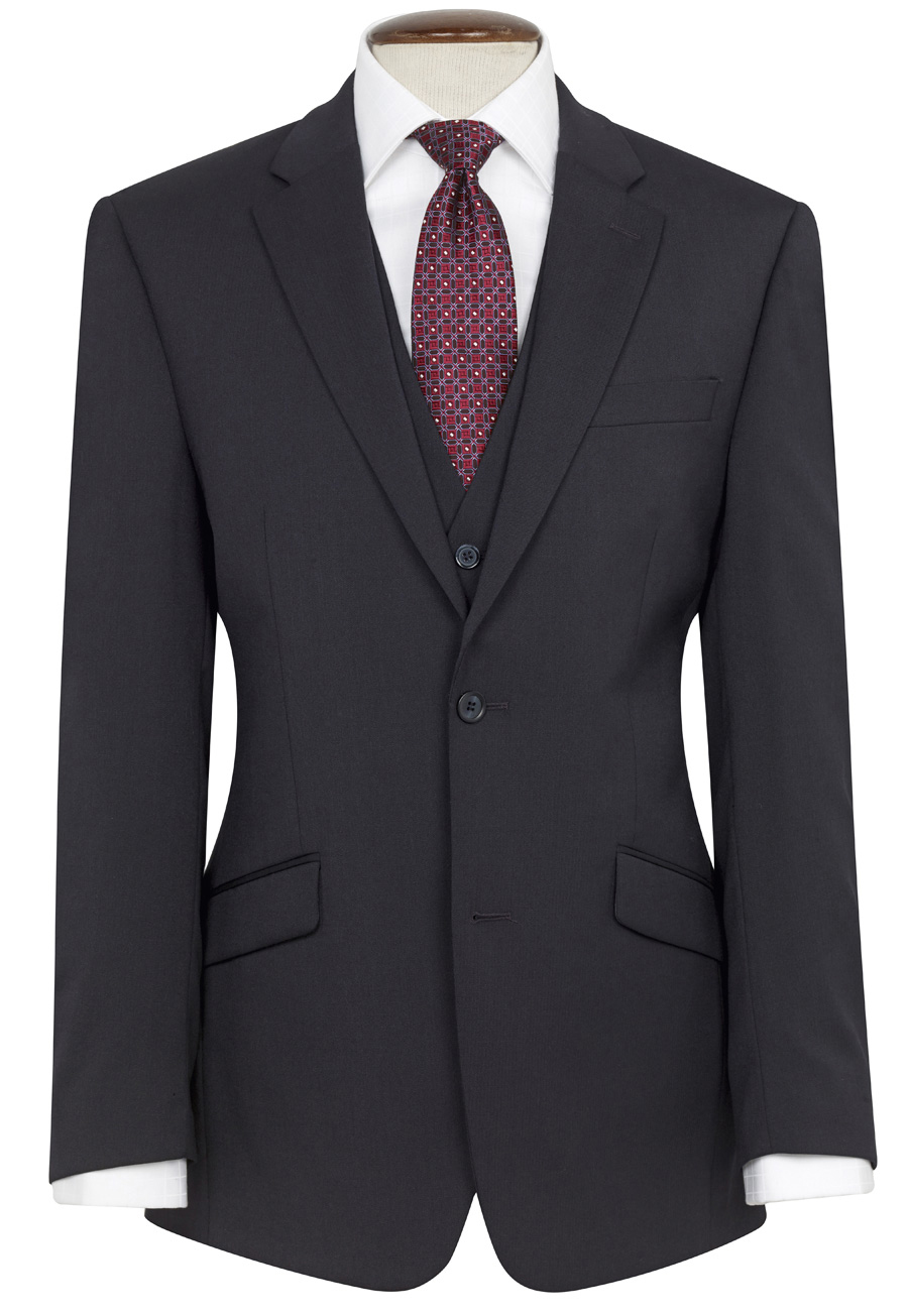 Aldwych Tailored Fit Jacket Navy Size 42 Small