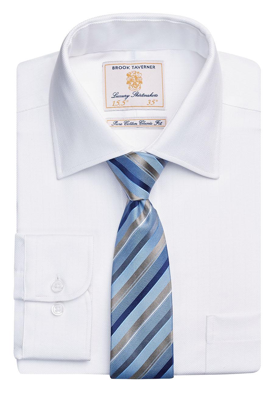 Altare Single Cuff Shirt Cotton Herringbone Image