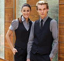 Brook Taverner model displaying a range of formal wear from Brook Taverner